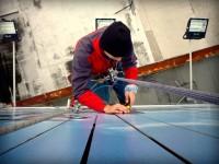 Lepenie a rezanie lamelového boardu vo výškach