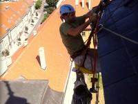 Oprava oplechovania kostolnej veže vo výškach