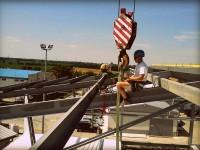 vyskova montaz strechy skladovej haly
