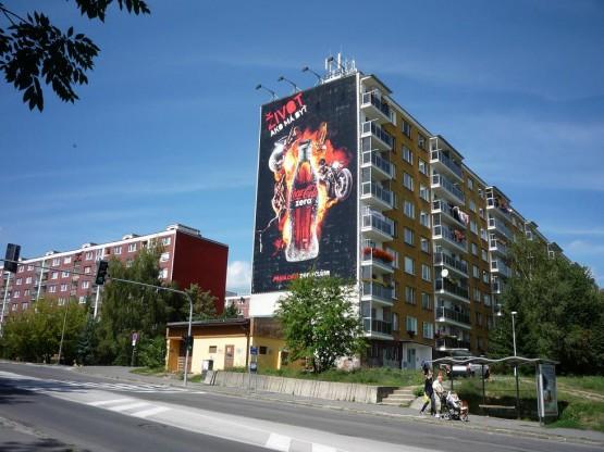realizácia Bannera ( PVC plachty ) na stene budovy - BB